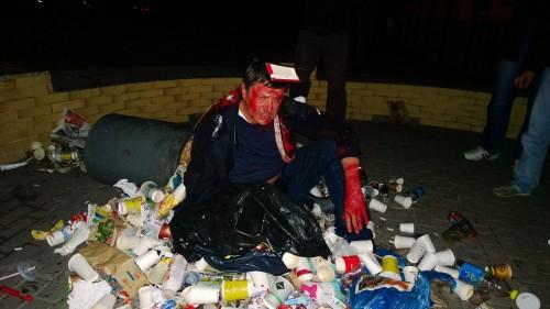 "На фото: Пилипишина ""люстрували"" у смітник"