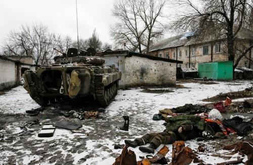 На фото дохлые российские оккупанты